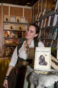 Marie-Jeanne lors du Salon du livre
